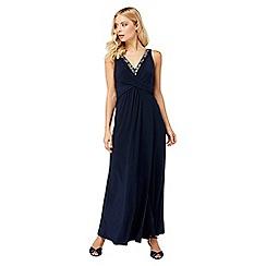 Monsoon - Blue 'Rosetta' maxi dress