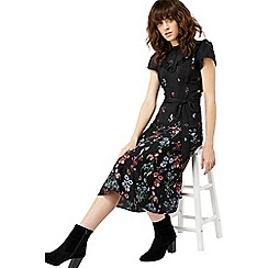 Monsoon - Black 'Rosa' print midi dress