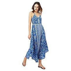 Monsoon - Blue 'Helena' hanky hem dress