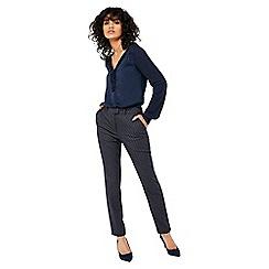 Monsoon - Blue 'Faye' fabric interest trousers