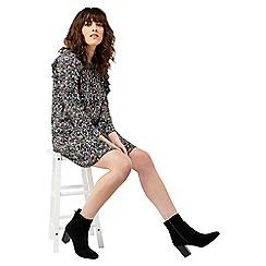 Monsoon - Black 'Peony' print tunic dress