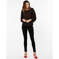Monsoon - Black 'Jody' flower jacquard blouse