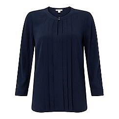 Monsoon - Blue 'Robyn' pleat front top
