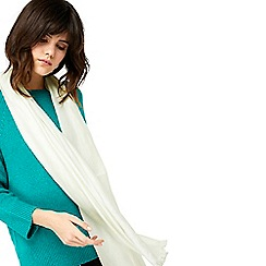 Monsoon - Ivory 'Oona' occasion sparkle scarf