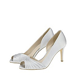 Monsoon - Silver 'Petra' pleated satin shoes