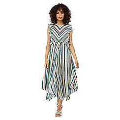 Monsoon - Ivory 'Kandi' soft stripe midi dress