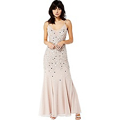 Monsoon - Pink 'Kim' embellished maxi dress