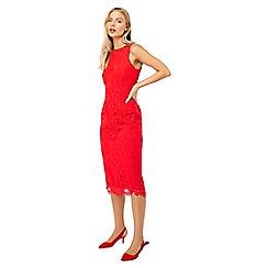 Monsoon - Red 'Bonnie' lace shift dress