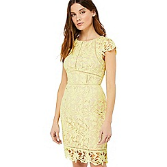 Monsoon - Yellow 'Leah' lace dress
