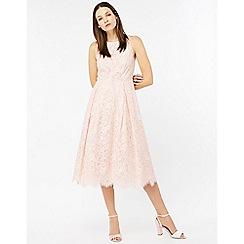 Monsoon - Pink 'Elle' lace midi dress