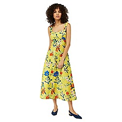 Monsoon - Yellow 'Flora' print sundress