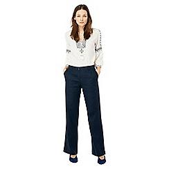Monsoon - Blue 'Penelope' regular linen trousers