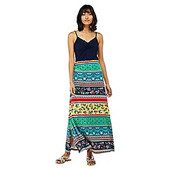Monsoon - Multicoloured 'Niquita' print maxi skirt