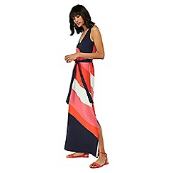 Monsoon - Blue 'Cece' colour block maxi dress
