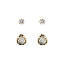 Accessorize - Grey 2x anya stud earrings