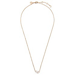 Accessorize - Metallic rg helena sparkle cluster necklace