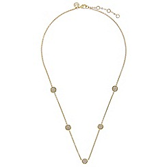 Accessorize - Metallic galaxy pave station necklace