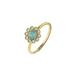 Accessorize - Green flower ring
