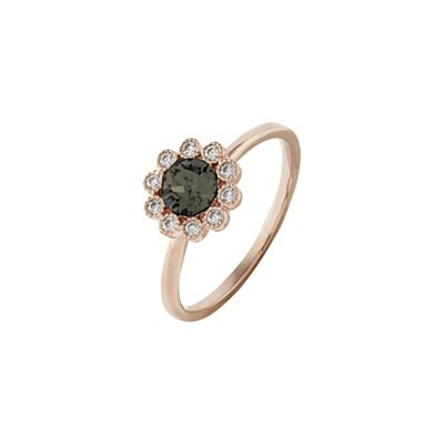 Accessorize   Grey Flower Ring by Accessorize