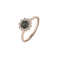 Accessorize - Grey flower ring