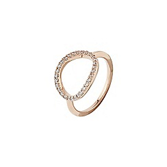 Accessorize - Pink pave oval ring