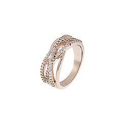 Accessorize - Pink super criss cross ring