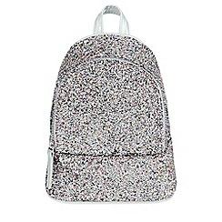 Monsoon - Girls' blue pic n mix glitter mini backpack