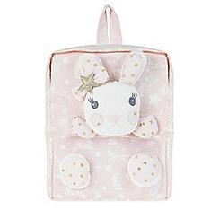 Monsoon - Girls' pink 'Lila' bunny backpack