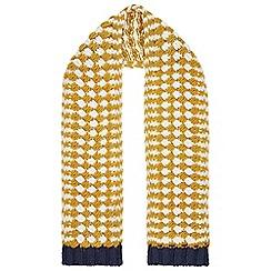 Monsoon - Boys' yellow Jacob stripe scarf