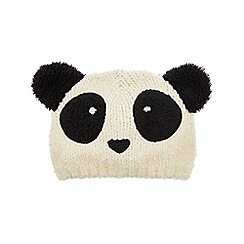Monsoon - Boys' white peter panda beanie