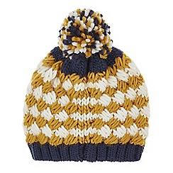 Monsoon - Boys' yellow jacob stripe bobble hat