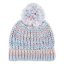 Monsoon - Girls' multicoloured  maggie rainbow yarn bobble hat
