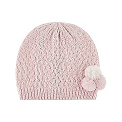 Monsoon - Girls' pink polly pompom hat
