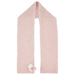 Monsoon - Girls' pink Polly pom pom scarf