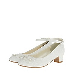 Monsoon - White 'Amelia' cha cha cha shoes