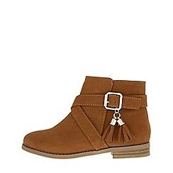 Monsoon - Girls brown robyn tassel buckle boots