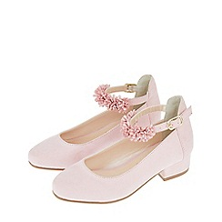 Monsoon - Girls' pink thea floral strap jive shoe