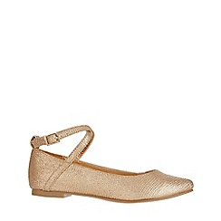 Monsoon - Gold ivy ankle strap ballerina