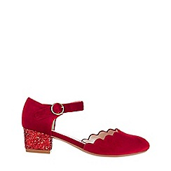 Monsoon - Red verity velvet scallop charleston