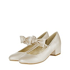 Monsoon - Girls' gold 'Alba' bow strap Charleston shoes