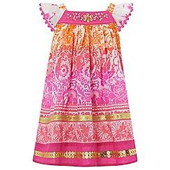 Monsoon - Pink baby 'Soraya' dress