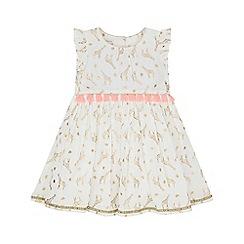 Monsoon - White baby 'Milly' giraffe dress