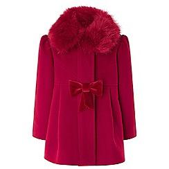 Monsoon - Baby girls' red rosie red coat