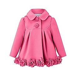 Monsoon - Girls' pink 'Penny' roses coat