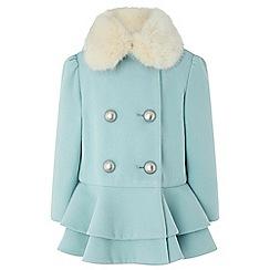 Monsoon - Girls blue 'Blossom' blue coat