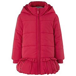 Monsoon - Baby girls' red bella bobble red coat
