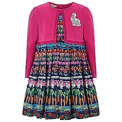 Monsoon - Baby girls' pink lottie 2 in 1 dress