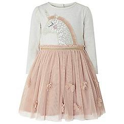 Monsoon - Baby girls' pink uma unicorn disco dress