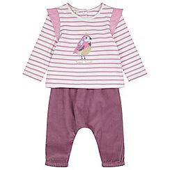 Monsoon - Baby girls' pink newborn tweet bird set