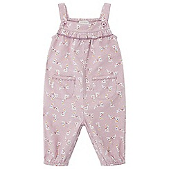 Monsoon - Baby girls' pink newborn lorrie bunny cord playsuit